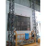 10m संचालित एल्यूमीनियम रस्सी निलंबित प्लेटफार्म zlp1000 एकल चरण 2 * 2.2kw