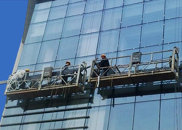 100m - 300 मि निलम्बित पहुँच प्लेटफार्मों 220v उच्च वृद्धि भवन चित्रकारी को लागि