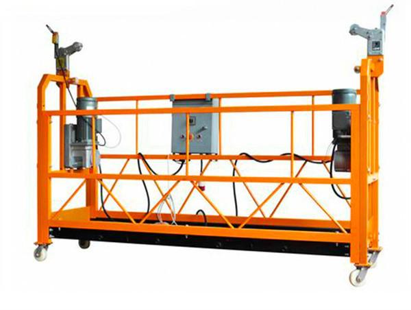 सीई प्रमाणित एल्यूमिनियम निलम्बित कार्य प्लेटफार्म ZLP1000 मोटर पावर 2.2kw