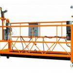 CE प्रमाणपत्र गरिएको एल्युमिनियम निलम्बित कार्य प्लेटफार्म zlp1000 मोटर शक्ति 2.2kw