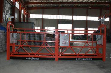 निर्माण र रखरखाव को निर्माण को लागि zlp1000 8 - 10 मीटर / मिनेट सुरक्षित निलंबित मंच