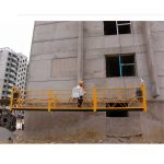 7.5m को निर्माण सफाई, पिन प्रकार को लागि 800 किलो निलंबित प्लेटफार्महरु को अनुकूलित