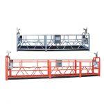 10m इस्पात / एल्यूमीनियम निलम्बित पहुँच उपकरण 3 व्यक्ति काम गर्न को लागी zlp1000