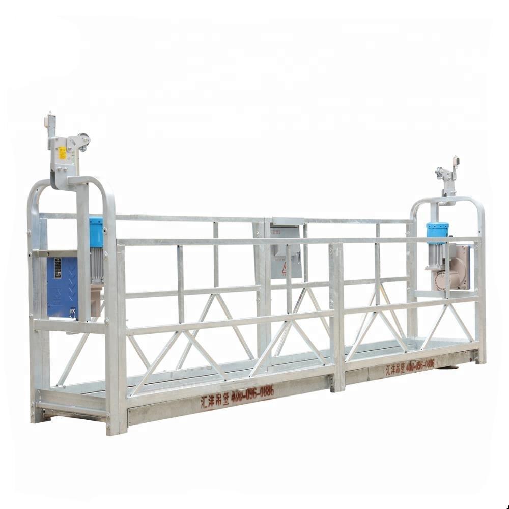 10m 800 किलोग्राम निलंबित मचान प्रणाली एल्यूमीनियम मिश्र धातु लिफ्टिंग संग 300 मीटर