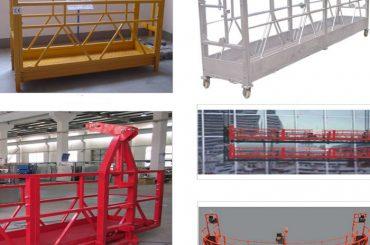 800 किलो चित्रित / गर्म जस्ती / एल्यूमीनियम मिश्र धातु निलम्बित पहुँच उपकरण zlp800