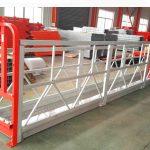 एल्युमिनियम मिश्र धातु निलम्बित मचान प्रणाली 1000 सेकेन्ड 2.2 किलोवाट विन्डो सफाईको लागि