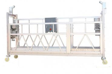Steel Painted Hot Galvanized Aluminum ZLP630 Suspended Working Platform For Building Facade Painting