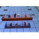 30kn सुरक्षा लक zlp1000 2.2kw 2.5m * 3 संग मजबूत निर्माण रस्सी निलम्बित प्लेटफार्म