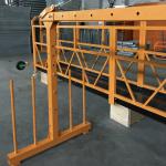 एकल चरण निलम्बित तार रस्सी प्लेटफार्म 800 किलो 1.8 किलोवाट, गति 8 -10 मिटर / उचाई