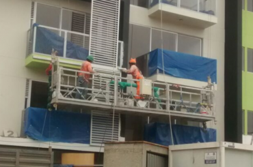 construction maintenance rope suspended platform with hoist ltd8.0 zlp800